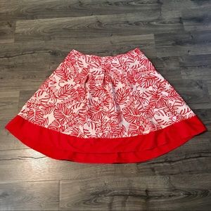 Orange and White A-Line Skirt (Size 20)